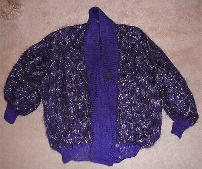 Hand woven sweater jacket from Toronto Canada, circa 1980s, by Jinx Senior