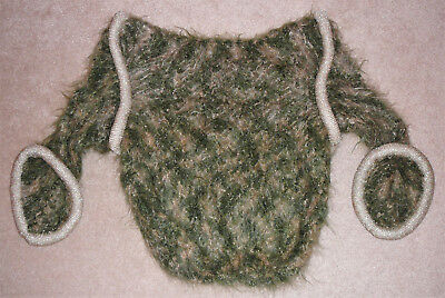 Handmade mohair with padded gold trim, designer sweater from Canada