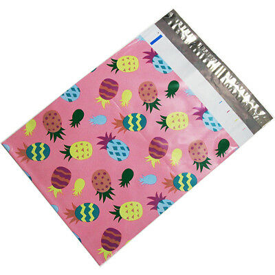 100 10x13 Pink Pineapple Designer Poly Mailers Envelopes Boutique Custom Bags