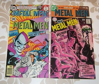 Metal Men #33 1968 and #48, 49, 54 lot of 4 comics, VG-F+, Joe Staton art