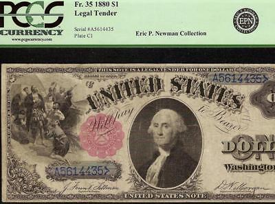1880 $1 DOLLAR BILL BLUE S/Ns LARGE UNITED STATES LEGAL TENDER NOTE Fr 35 PCGS