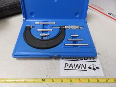 """CENTRAL TOOL CO. MICROMETER SET 0"""" - 4"""" Range AMAZING CONDITION"""