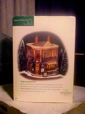 Dept 56 Dickens Village Series The Horse And Hounds Pub Building In Box # 58340