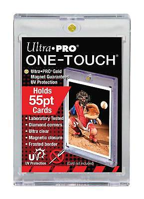 5) ULTRA PRO 55 PT UV One Touch Magnetic Holders for THICK CARDS or Jersey card