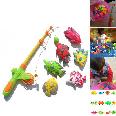 22pcs Magnetic Fishing Fish Model Net Game Fun Toy Kid Children Baby Bath Time