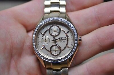 Women s Citizen Eco-Drive 8637 WR-100 Rose Gold Tone Stainless Steel Watch df49a8f36