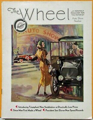 1932 Studebaker Wheel Mag Auto Show No Issue President Commander Dictator Six