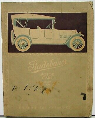 1917 Studebaker Series 18 Orig Sale Brochure Catalog Four Six Touring Roadster