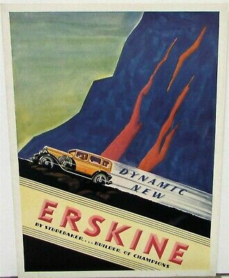 1930 Studebaker Erskine Sedan Coupe Landau Color Sales Brochure Folder