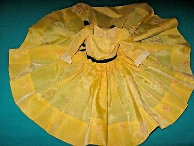 "VINTAGE 1957 ""CISSY"" TAGGED YELLOW DRESS by Madame Alexander BUY it NOW !!"