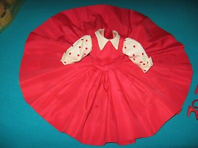"VINTAGE 1956 ""CISSY"" TAGGED RED TAFFETA DRESS by Madame Alexander"