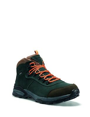 CMP Trekking Shoes Hiking Boots Green Turais Leather Waterproof Profil