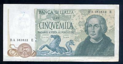 1971 Italy 5000 Lire Banknote