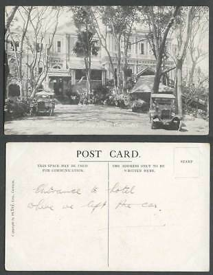 Ceylon Old Postcard The Entrance Mount Lavinia Hotel Colombo, Vintage Motor Cars
