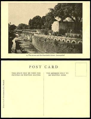 India Old Postcard The Stream and Panchakki Shrine Aurangabad Bridge River Scene