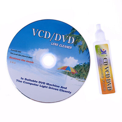 DVD&VCD&CD&CD-Rom Lens Cleaner Rom Player Cleaning TV Game Wet & Dry w/ Music