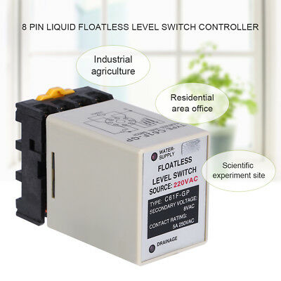 C61F-GP AC220V 50/60HZ Liquid Floatless Level Switch Controller With Base hhh
