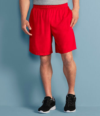 Gildan Performance Shorts with Pocket wicking/&antimicrobial proper Short G44S30