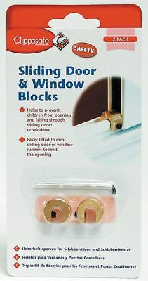 Clippasafe 2 SLIDING WINDOW DOOR BLOCKERS Child/Kids Home Safety Proofing BN