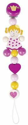 Heimess DUMMY CHAIN PRINCESS Baby/Nursery Wooden Pacifier Travel Toy Gift BN