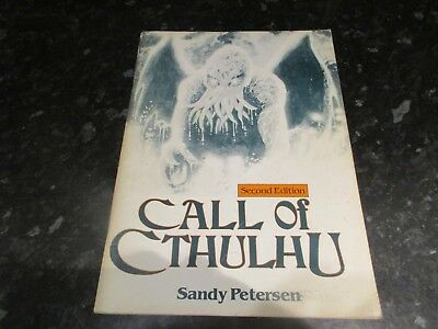 Call of Cthulhu -  second 2nd Ed. Rulebook  hp lovecraft    games workshop 1983