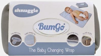 Shnuggle BUMGO CHANGING WRAP GREY Easy Stretchy Compact Design Spacious BN