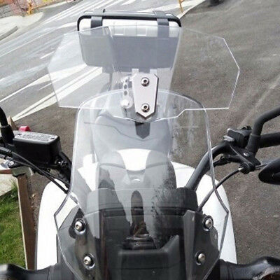 Adjustable Clip On Windshield Extension Spoiler Wind Deflector For Motorcycle EE