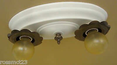 Vintage Lighting matched pair circa 1920 ceiling fixtures