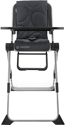 Concord SPIN COSMIC BLACK Compact Folding Highchair Baby/Toddler/Child BN