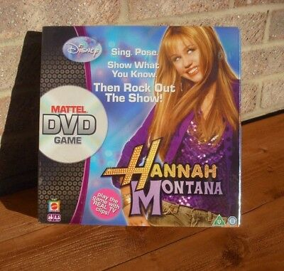 Mattel Dvd Game Hannah Montana Sing Pose Rock Out The Show 6+ Disney New Sealed