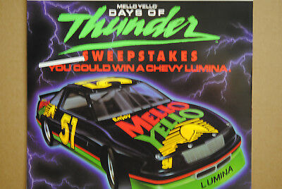 Mello Yello Days Of Thunder Large Sign Poster Nos Coca Cola 1990 Nascar