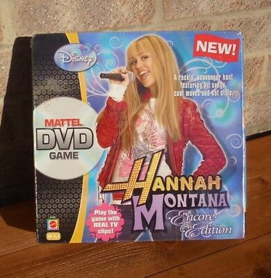 Mattel Dvd Game Hannah Montana Sing Pose Encore Edition 6+ Disney New Sealed