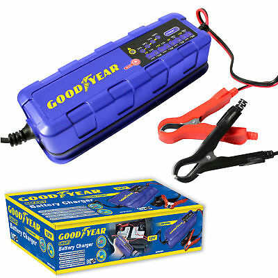 Goodyear Battery Charger Maintainer for 6v / 12v Lead Acid and Gel Batteries