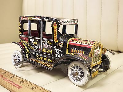 """1950s MARX """"Old Jalopy"""" Tin Lithographed Wind Up Car"""
