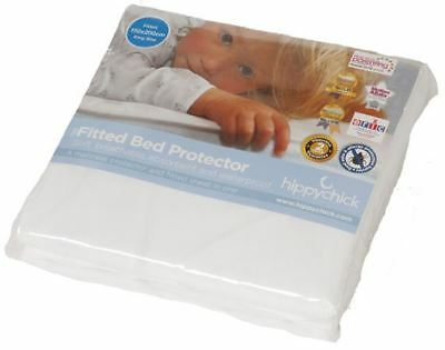 Hippychick Fitted Bed Protector Cot Bed Waterproof Mattress Cover Sheet -BN