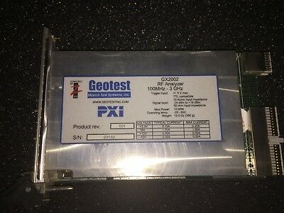 Geotest-Marvin Test Systems GX2002 PXI 100MhZ-3GHz RF Analyzer Card -34 _ +16dBm