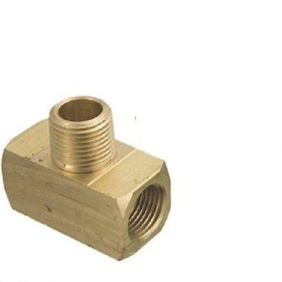 """2 pieces 1/8"""" Female NPT x 1/8"""" Male NPT Brass Branch Tee Made in USA 1200 psi"""