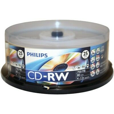 PHILIPS CDRW8012/550 700MB 80-Minute CD-RW 25-ct Spindle