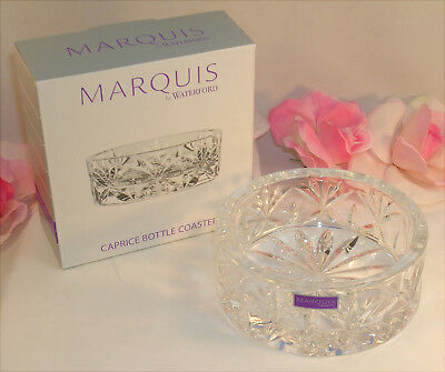 New Waterford Marquis Lead Crystal Caprice Wine Bottle Coaster Shallow Bowl