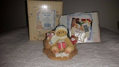 "Cherished Teddies EVAN ""May Your Christmas be Trimmed in Happiness"" ~ NIB"