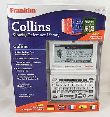 Franklin Collins Speaking Reference Library DMQ-2100 5 Language Translator New !