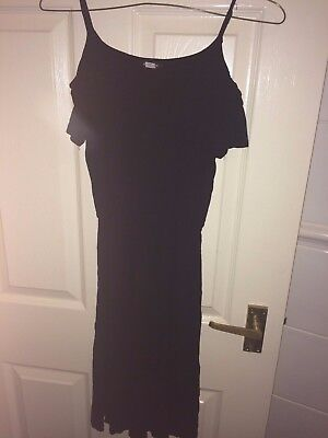 River Island Girls 9-10 Years Black Sleeveless Playsuit (Ex Cond)