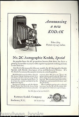 1923 KODAK advertisement, Kodak No. 2C camera, autographic Special