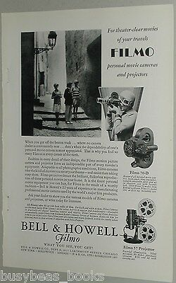 1929 Bell & Howell advertisement for FILMO Movie Camera, model 70-D