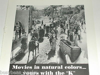 1934 Kodak ad, Cine-Kodak K movie camera, Afa Innellas Horse Race track Morocco