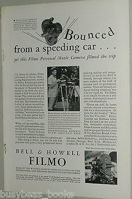 1932 Bell & Howell ad, B&H Filmo Movie Camera