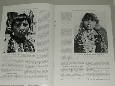 1941 magazine articles on San Blas Indians, color photos history