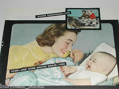 1946 Kodak Color Movie Film ad, postwar, Mom & baby