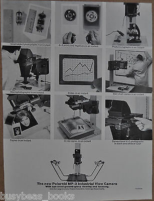 1963 Polaroid advertisement for POLAROID MP-3 Industrial View Camera