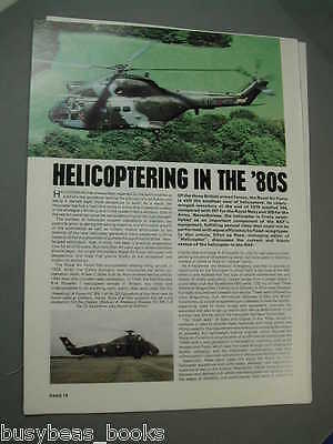 1980 article Royal Air Force 'copters cutaway Chinook